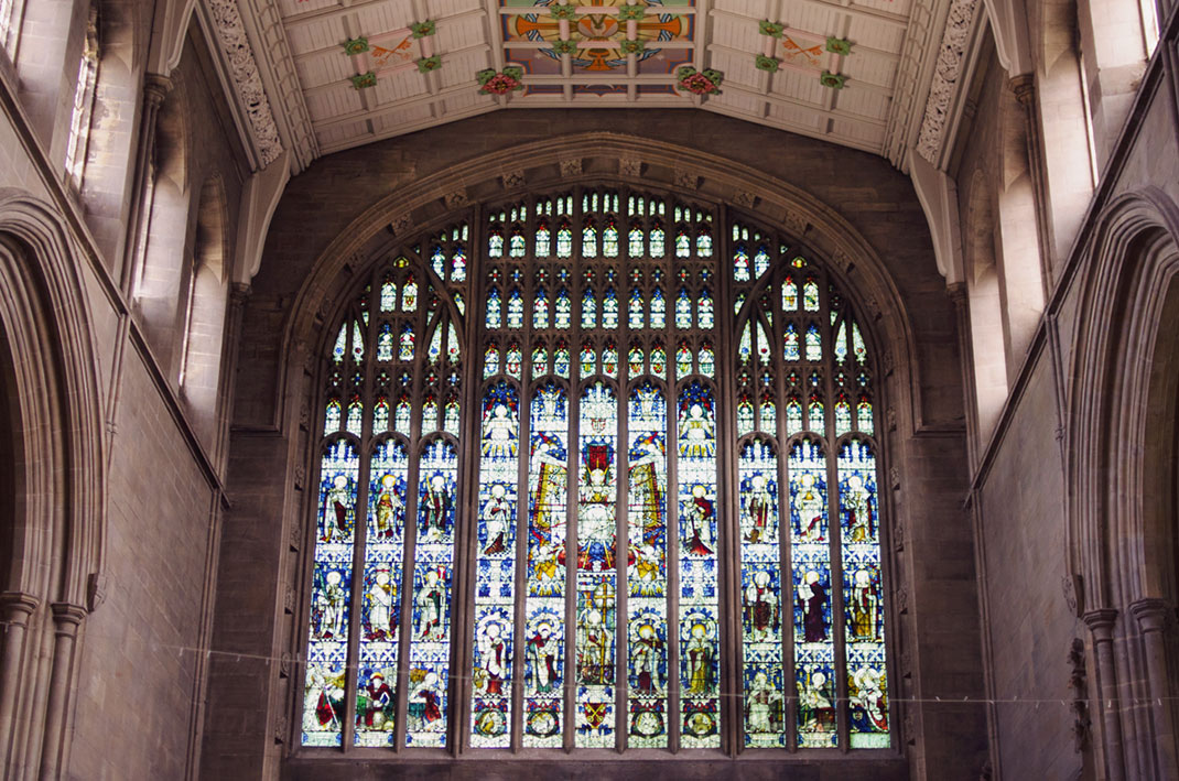 St Peter's Church, Brighton, stained glass windows, light, marriage, wedding