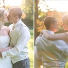 Golden Hour, sunset, kiss, carry, love, just married, newly wed, happy, fun, sunlight, Bride, Groom