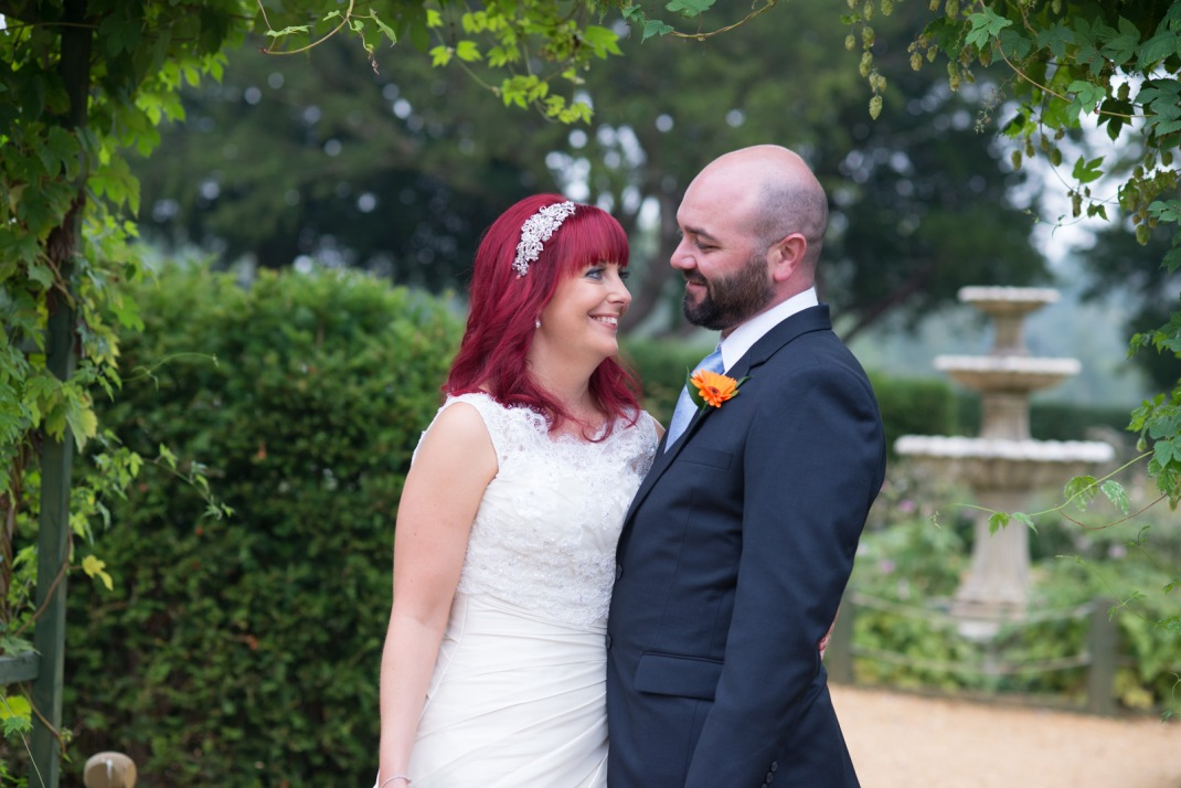 love, laughter, happiness, just married, bride, groom, red hair,