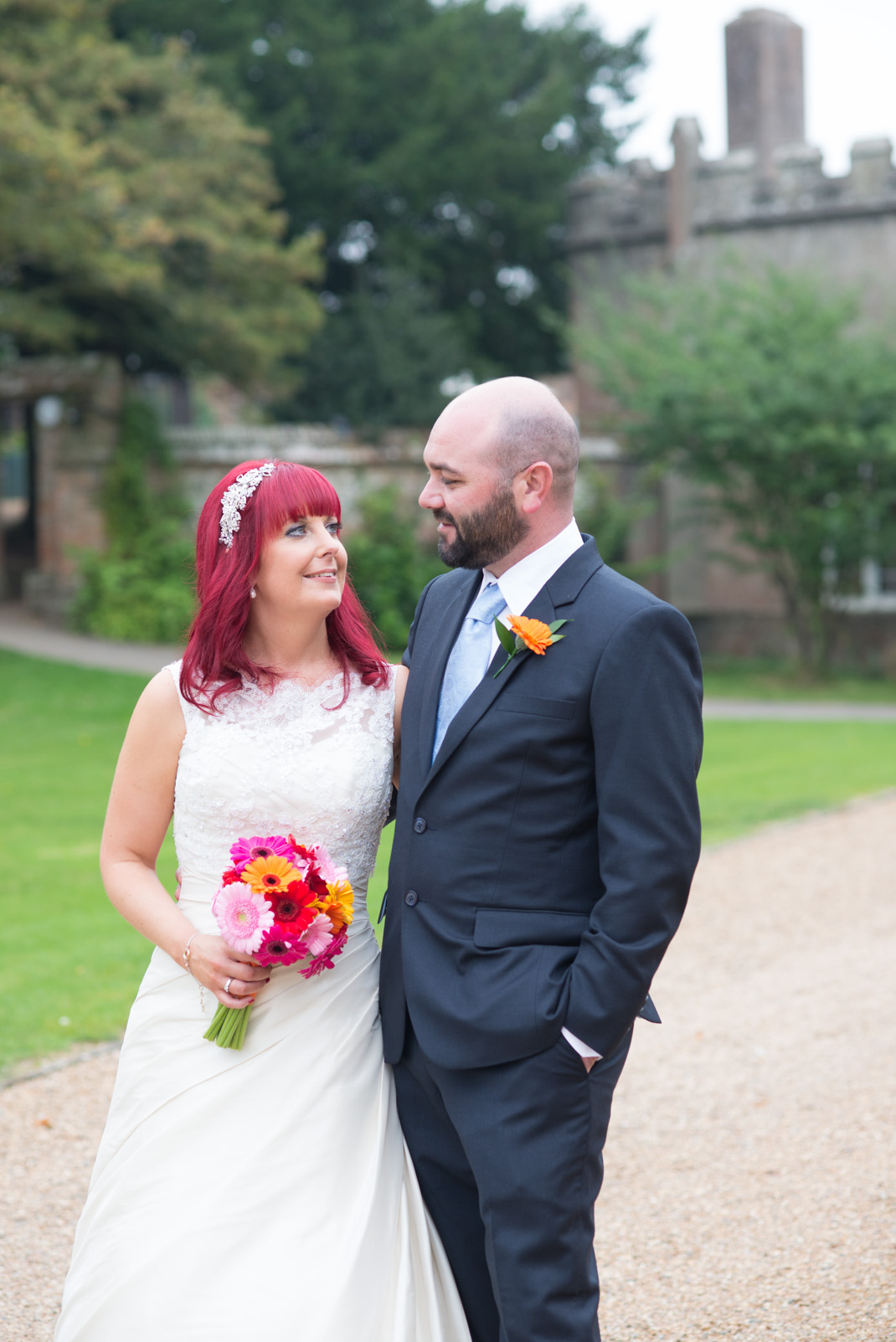 bride and groom portrait, wedding photography, portrait, couple, just married, Marwell Zoo