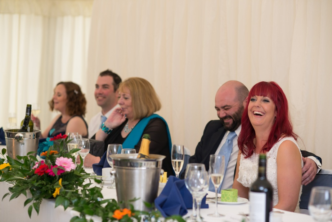 Wedding, marquee, wedding guests, happy, laugh, WInchester, Wedding Photography
