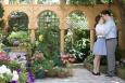 engagement, Cambridge, botanical Garden, pretty, flowers, botanical