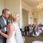kiss, ceremony, Bride, Groom, wedding photography