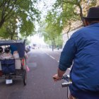 Rikshaw, travel, London, Covent Garden, Whitehall Gardens, cycling, fun, Bridal Party