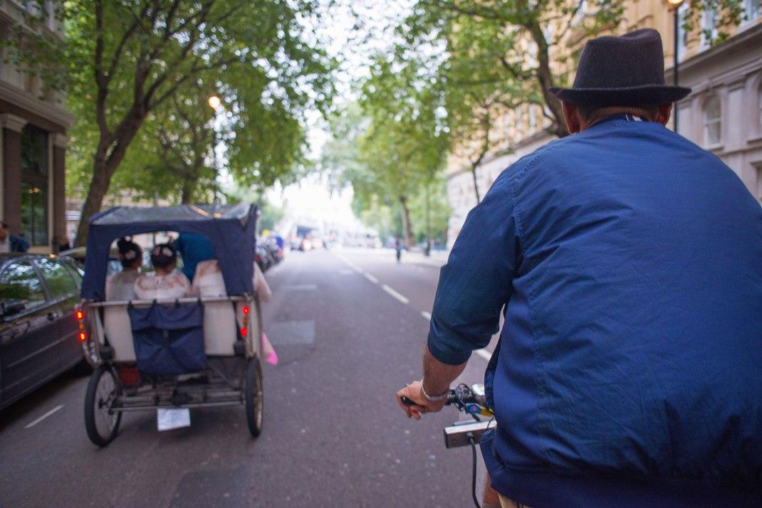 rickshaw, Browns, Convent Garden, London Wedding Photographer,  London eye, Whitehall Gardens