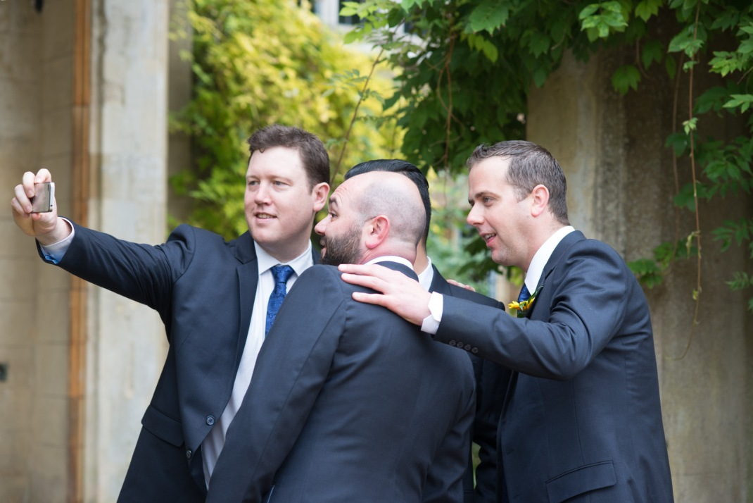 wedding seflie, celfie, wedding celfie, seflie, groomsmen, best man, groom, wedding, ceremony, Winchester, Wedding Photographer, Marwell House, Marwell Zoo
