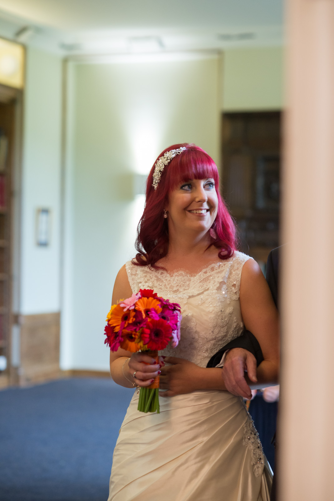 pre-ceremony, wedding, bride, happy,