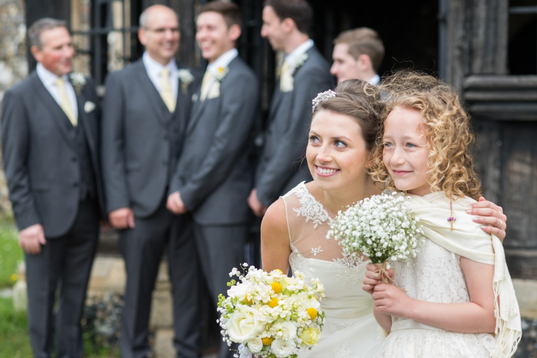 group photo, wedding, composition, pretty, bride, bouquet