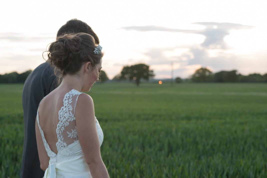 bride and groom, walking,