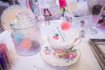 vintage, pom pom, pretty, teacup, wedding
