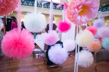 pom pom, pastels, pretty, wedding