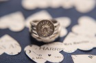 Rings, Wedding rings, engagement, close up , macro, paper confetti, typed, hearts
