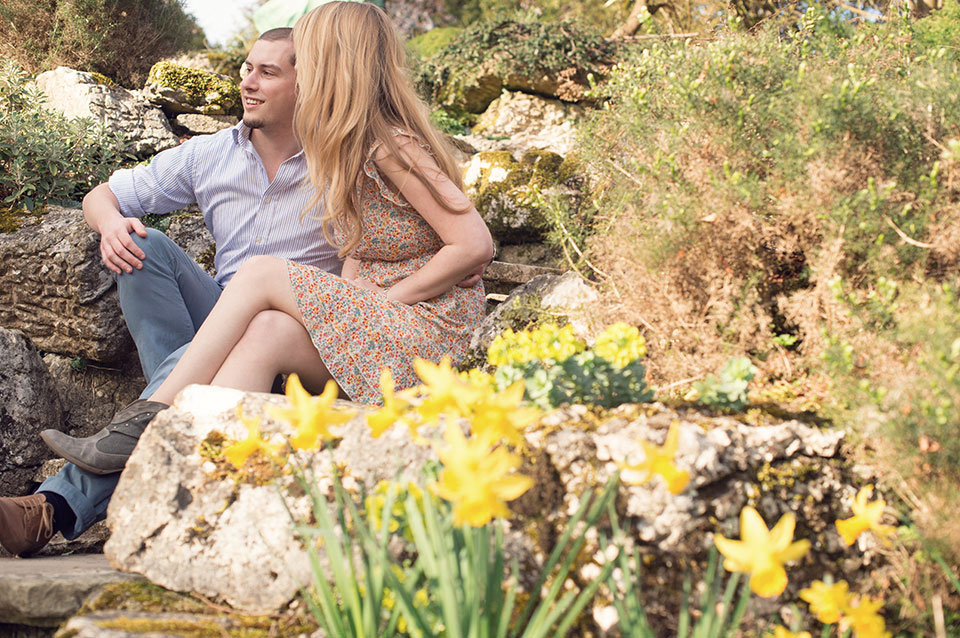 Polesden Lacey, engagement photography, Pirbright Wedding Photographer, Woking, sunlight, florals, Spring, fresh