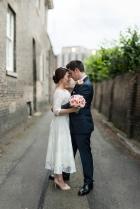 Just Married, happy, love, Brenizer method, Bride and Groom portrait.