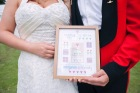 Just Married, Bride, Groom, cross stitch, weddiing gift