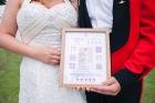 Just Married, Bride, Groom, cross stitch, weddiing gift