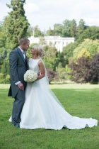 Wedding Photography, Bride, Groom, Orchid bouquet, Northcote House