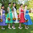 bride, bridesmaids, The Edwardian Marquee, Bray Maidenhead