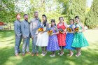 bride, groom, happy, love, fun, group photo