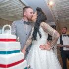 Cake, cutting, wedding, tradition, Harry Potter cake, fun, kiss