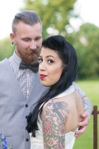 Bride, Groom, alternative, stylish, beautiful, quirky, individual, wedding, fun, bride and groom shot