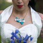 necklace, custom, alternative, bride, wedding, reception