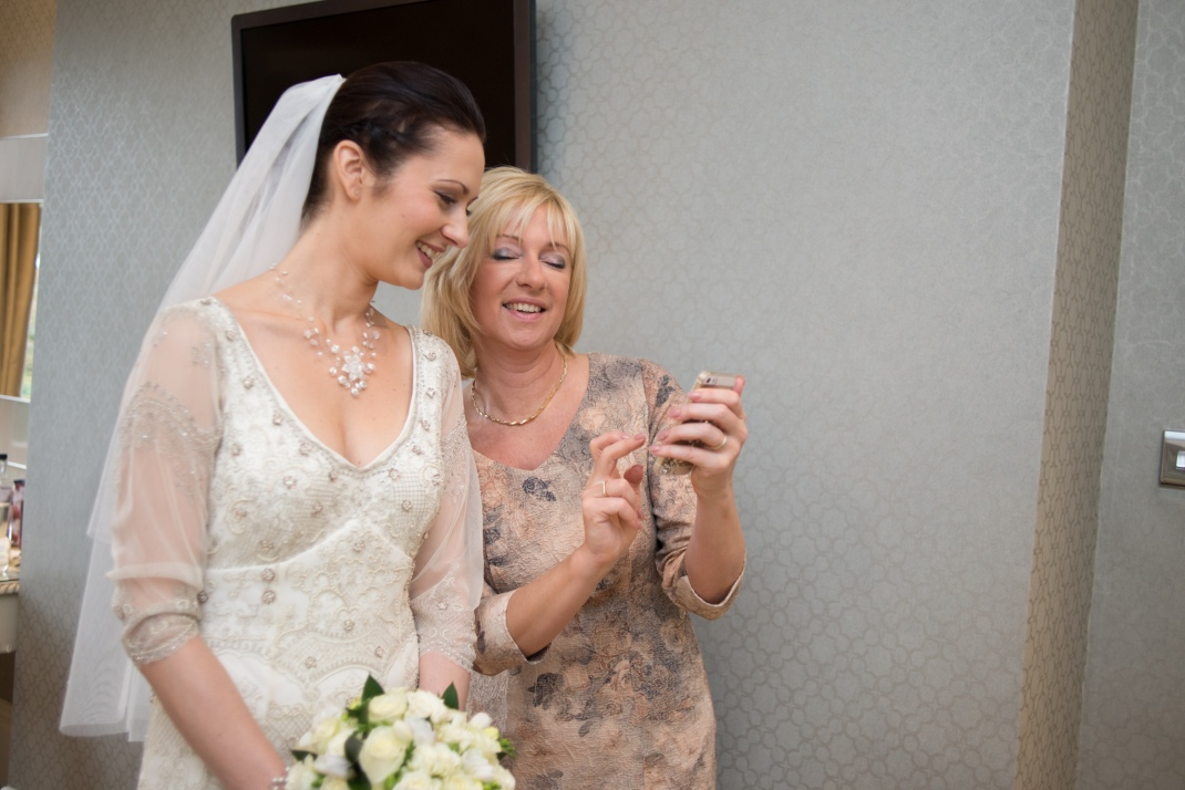 mother, bride, photo, happy