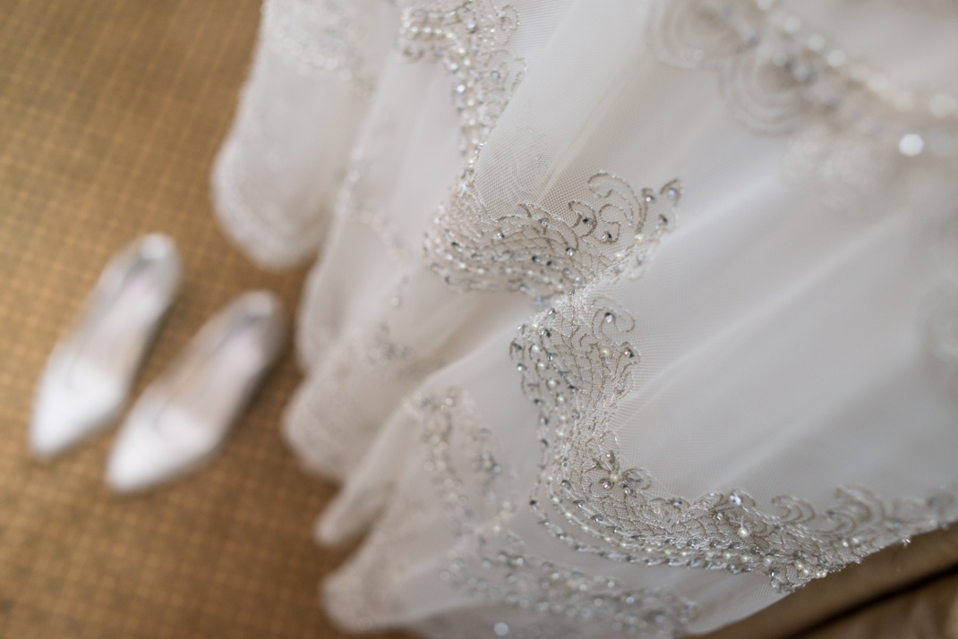 wedding dress, bride, shoes